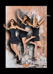 REMY ALICE 3 (REMYRO) Tags: light color design calm graphic concept illustration art style femme beauty beauté femmes envol surréaliste couleur jeu trois sauts rose danse cadre