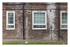 The Built Environment, South East London, England. (Joseph O'Malley64) Tags: thebuiltenvironment newtopography newtopographics manmadeenvironment manmadestructure building structure councilhousingestate councilhousing councilestate housingassociations privateownership housing homes dwellings abodes midcenturyhousing southeastlondon london england uk britain british greatbritain wilfulneglect neglect neglected lackofmaintenance brickwork bricksmortar cement pointing wall windows replacementwindows upvcdoubleglazing doubleglazing upvc flues vents extractorfans windowblinds curtains airbrick drainpipes lightningconductor copperearthingstrap copperwithantitheftsheathing gaspipes concrete earth lawn grass daisies stopcocks accesscovers leaks waterdamage frostdamage airpollutiondamage acidraindamage hygroscopicsaltsinbrickwork damp urban urbanarchitecture architecture architecturalphotography documentaryphotography britishdocumentaryphotography fujix fujix100t accuracyprecision theytakeyourrentmoneyandrun