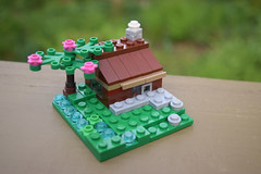 Country Cottage Micro MOC (LegoLyman) Tags: country cottage lego legolyman moc modular cool calm building finest legoideas activity beta peacful relax nature tree river chimney interior plants detailed awesome
