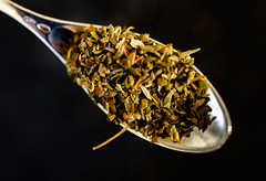 A silver spoon full of Italian Herbs (Peter Branger) Tags: aspoonful macro macromondays spoon silver herbs