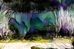 La orilla (seguicollar) Tags: art arte artedigital texturas virginiaseguí imagencreativa photomanipulation río orilla matorrales agua water