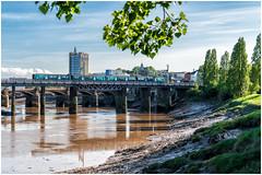 Muddy river (Mark Gowing) Tags: class150 newport dmu riverusk train lowtide newportrailwaybridge