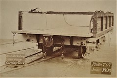 Perak State Railway - Four wheel (meter gauge) open side railway wagon (Gloucester Railway Carriage and Wagon Company, June 1893) (HISTORICAL RAILWAY IMAGES) Tags: train railway grcw gloucester fmsr malaya perak malaysia