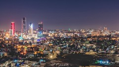 العاصمة الأردنية عمان ليلة الثامن من رمضان التصوير من منطقة جبل التاج (ebrahemhabibeh) Tags: