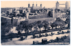 London - Tower and Tower Bridge Prior to 1919 (pepandtim) Tags: postcard old early nostalgia nostalgic london tower bridge dennis sons scarborough 11091919 1919 russell oakley high street christchurch hants hampshire eynham road wood lane uncle lonely birth antioch california joseph edward gallo brother wine producers ernest julio farms cheeses modesto junior college army air corps sued 2007 strokes 22lta96 hansom cans speed safety 1908 1920