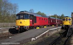 33021 and 33102 at Cheddleton (jon33040) Tags: 33021 class33 churnetvalleyrailway 33102 aruba