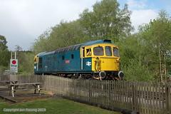 33102 at Leek Brook (jon33040) Tags: leekbrook class33 churnetvalleyrailway 33102 aruba