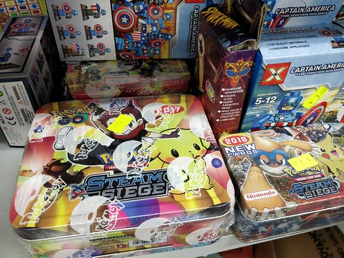 Pokemon XY Steam Siege cards at Clayton Discount Supermarket