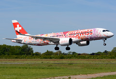 HB-JCA A220-300 Swiss (MM Aviation Photography) Tags: airbus a220 a220300 hbjca maastricht mst ehbk swiss