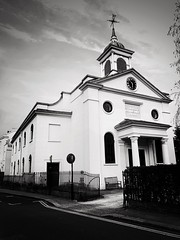 St. John's Downshire Hill (marc.barrot) Tags: shotoniphone monochrome church building uk nw3 london hampstead downshirehill saintjohn'sdownshirehill