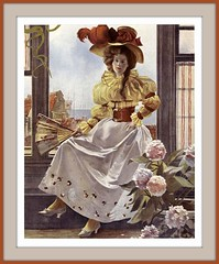 1893 Dec  COVER  From Figaro illustré,  (Paris), Woman sitting on a windowsill-  Hat - art by  François Flameng (karadogansabri) Tags: robertchaefner robert haefner c bob
