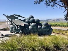 Domum Estate Grape Cluster Sculpture, Sonoma (Nancy D. Brown) Tags: donumestate sonoma grapes vineyard winecountry art california