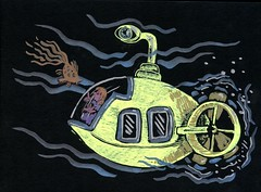 Yellow Submarine (Life Imitates Doodles) Tags: yellowsubmarine blackpaper metallicpen