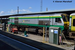 218 at Heuston, 4/5/19 (hurricanemk1c) Tags: railways railway train trains irish rail irishrail iarnród éireann iarnródéireann dublin heuston 2019 generalmotors gm emd 201 218