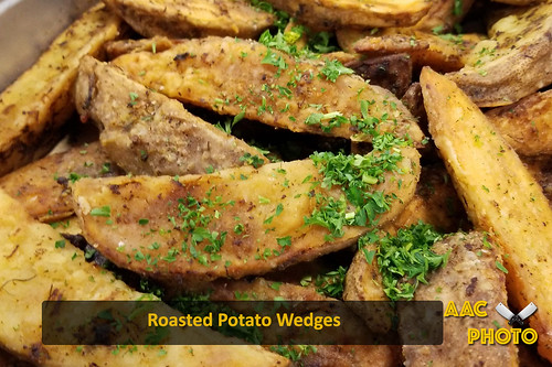 """Roasted Potato wedges • <a style=""""font-size:0.8em;"""" href=""""http://www.flickr.com/photos/159796538@N03/32899225007/"""" target=""""_blank"""">View on Flickr</a>"""