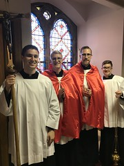 Our senior seminarians assisting at the Gannon Baccalaureate Mass.  Congratulations on your assignment to major seminary!