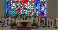 "Bishop Persico and concelebrants at ""St. Mark Day"" Mass, May 3, 2019."