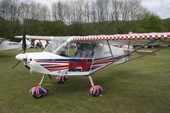 G-CFNO (IndiaEcho) Tags: gcfno skyranger swift 912 eghp popham airport airfield basingstoke hampshire england canon eos 1000d light general civil aircraft aeroplane aviation microlight fly in 2019