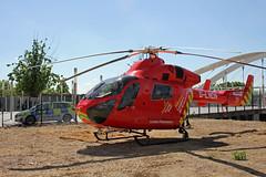 London's Air Ambulance in Wembley (kertappa) Tags: img0939 air ambulance londons london hems doctor paramedics hospital glndn emergency helicopter kertappa wembley