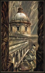 """from the series """"Walking in Italy"""".  Cathedral in Palermo. (odinvadim) Tags: textured mytravelgram iphoneart sunset iphoneography iphoneonly evening painterlymobileart snapseed textures travel icolorama oldhouse instapickskyart iphonex editmaster old church"""