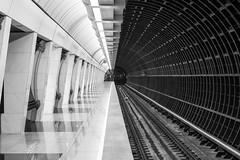 Tube (gubanov77) Tags: architecture bw blackwhite blackandwhite monochrome abstract savelovskaya subway underground metro station platform moscow russia moscowmetro moscowphotography mosmetro transport city urban metropoliten
