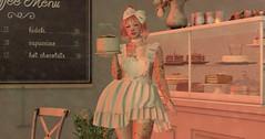 Take a seat... (drayton.miles) Tags: momo momocha cha cafe coffee tea cake lolita kawaii cute femboy pretty pink cross dressing second sl secondlife mesh japan asia