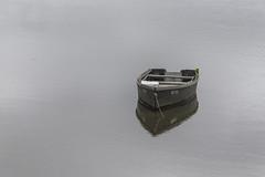 Work Boat Waiting (jessicalowell20) Tags: coast coastalliving gray maine monochrome moored newengland northamerica phippsburg silver spring water white