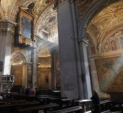 Man in prayer - Sunlight in the Cathedral - Bergamo 2 (litlesam1) Tags: churches italy2019 duepazziragazziamilano2019 march2019 bergamo