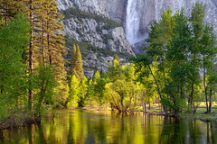 Morning Light (Kirk Lougheed) Tags: california mercedriver usa unitedstates yosemite yosemitefalls yosemitenationalpark yosemitevalley landscape morning nationalpark outdoor park river spring water waterfall