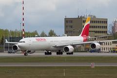A56A2448@L6 (Logan-26) Tags: airbus a340642 eckzi msn 1017 iberia riga international rixevra latvia airport aleksandrs čubikins
