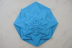 Wind Rose (Arseni Ko) Tags: origami pattern paper design fractal recursive geometry symmetry tesselation