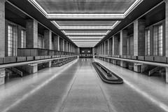Check in (Leipzig_trifft_Wien) Tags: berlin deutschland terminal airport black white monochrome building empty architecture