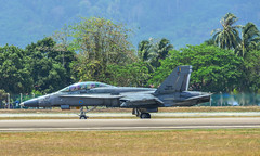 Boeing FA-18D Hornet of Malaysian Air Force (phuong.sg@gmail.com) Tags: aeronautical aeronautics aircrew aviator combat defence f18 fa18 force hornet jetfighter mcdonnell war warplane aeroplane aerospace air aircraft airplane armed asia asian aviation defense douglas fighter forces going jet lima malaysia military officer pilot plane royal run show sunnyday weapon