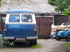 Copenhagen backyard view shows 1967 LWB Ford Transit 1250 bus YB28883 an amazing survivor (sms88aec) Tags: