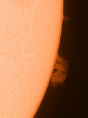Solar prominence 14.05.19 (Damien Weatherley) Tags: lunt sun solar space astronomy astrophotography ar active region prominence