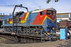KTZ 2TE10MK-KN (tzhskz) Tags: kazakhstanrailways ktz 2te10mkkn 0665 diesel depot turntable roundhouse gereconstruction
