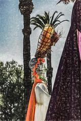Headdress (p) (davidseibold) Tags: america california canonrebelt3i cemetery diadelosmuertos hollywood hollywoodforevercemetery jfflickr losangelescounty painting photosbydavid postedonflickr santamonicablvd unitedstates usa losangeles unitedstatesofamerica