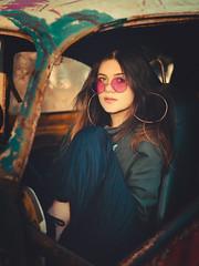 Maria Vitória (dudarossattof) Tags: olympus 45mm car portrait