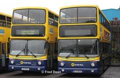 Dublin Bus AV444 & AV48. (Fred Dean Jnr) Tags: buseireannbroadstonedepot broadstonedepotdublin broadstone dublinbus february2013 busathacliath dublinbusyellowbluelivery b7tl volvo alexander alx400 av444 av48 05d10444 00d10048 bstone