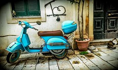 "Corfu town back streets (John Chorley) Tags: 2019 ""backstreets"" scooter corfu"