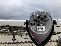 Limited Visibility (lclower19) Tags: iphone 119in2019 112 vision beach people wells maine surf ocean stormy rainy