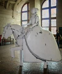 Sculpture by Manolo Valdés (Tiigra) Tags: chambord loiretcher france 2010 architecture castle contemporary horse interior metal museum palace sculpture statue art renaissance