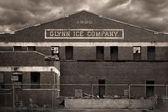 Glynn Ice Company (Jon Scherff) Tags: oldbuildings gloomy abandoned sepia buildingsigns signs brickbuilding brick icehouse brunswickgeorgia forgotten