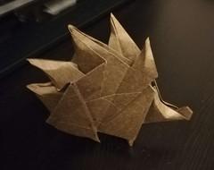 Hedgehog (Sergey-Yartsev) (Matt Origami) Tags: origami hedgehog satogami sergeyyartsev