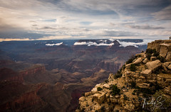 A Hikers View (Timothy S. Photography) Tags: grandcanyon arizona unitedstatesofamerica hikersview cloudyphotography cloudyday hiking canyon godsview whataview