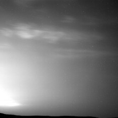 Clouds Passing by Over Gale Crater (sjrankin) Tags: 15may2019 edited nasa grayscale gif animatedgif clouds wind sun galecrater mars msl curiosity