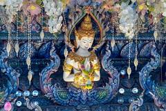 Wat Rong Suea Ten..Blue Temple Thailande album (geolis06) Tags: geolis06 asia asie thaïlande chiangrai watrongsueaten templebleu bluetemple olympusbouddhismebouddhabuddhismreligionpilgrimpélerinprièreprayerstatueolympus penf olympusem5 olympusm75300mmf4867ii