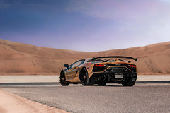 Demon of the Dunes (robertsautomotive.photos) Tags: lamborghini lambo gold sand dunes sandy aventador svj aventadorsvj car cars speed supercar superveloce