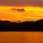 Sunset in the sea off the Surin Islands, Andaman Sea, Thailand XOKA0795bs thumbnail