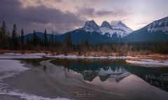 Three Sisters (Toni_pb) Tags: canada canadianrockies threesisters alberta yoho banff landscape nikon nikkor1424f28 nature water waterscape winter winterscape wild wildlife mountain canmore